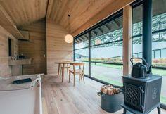 Inside the Naoto Fukasawa Hut for MUJI
