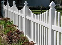 white picket fence. I do not like the 'swooping effect' i like just plain and straight across. I want the focus on the flowers not the fence.