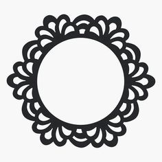 Silhouette Cameo, Silhouette Design, Frame Template, Templates, Scroll Saw Patterns, Stencil Designs, Rangoli Designs, Cricut Design, Swirls