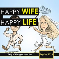 #WifeAppreciationDay is observed annually on the third Sunday in September.  Since #wives do so many things to make their husbands and homes happy, this is a day for men to let their wives know just how much they appreciate both the little and the big things they do all year long.