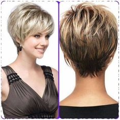 Hair Beauty - haircut,style-Haircut for women over 50 with fine hair style ideas for 2019 hair haircut style Haircuts For Fine Hair, Haircut For Thick Hair, Cute Hairstyles For Short Hair, Bob Hairstyles, Curly Hair Styles, Wedge Hairstyles, Hairstyles Over 50, Shaggy Short Hair, Short Thin Hair