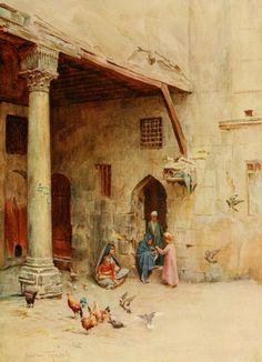 Tyndale, Walter (1855-1943) - An Artist in Egypt 1912, The Takhtabosh. #egypt