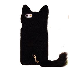 iPhone 6 Plus Case, SwiftBox Cute Cat Shaped 3D Ear Fluffy Plush Fur Soft TPU Case with Soft Tail for iPhone 6 Plus 5.5 inch + Free Screen Protector + SwiftBox Handmade Owl Phone Strap (Black) SwiftBox http://www.amazon.com/dp/B00OTF3EZU/ref=cm_sw_r_pi_dp_yGUQub15JTRMV
