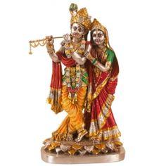 Resin  Sterling Silver Radha Krishna