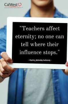 #Teachers, remember the impact you have on your #students. #calwestcares #teachindy