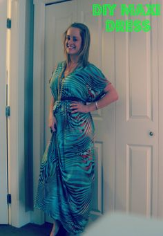 DIY Maxi Dress with empire waist