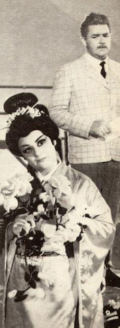 "Maria Bieşu (Cio-Cio-San (Butterfly)), N.Bashkatov (Sharpless)  in the Opera  ""Madamа Butterfly"" by Giacomo Puccini. Мария Биешу (Чио-Чио-сан (Баттерфляй)), Н.Башкатов (Шарплесс) в опере «Мадам Баттерфляй» Джакомо Пуччини."