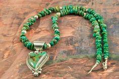 Beautiful Manassa Turquoise Pendant and Necklace Set at www.TreasuresoftheSouthwest.com/TN1231-p-turquoise-necklaces.html