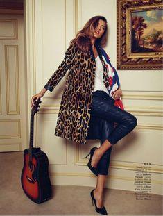 alina xavi gordo9 Alina Baikova Wears British Inspired Style for Xavi Gordo in Elle Spain Shoot