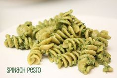 Spinach Pesto Pasta, 8-10 month old baby food