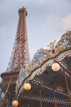 Paris, carousel at the Eiffel Tower