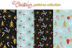 Christmas seamless vector patterns by LoveDesignShop on @creativemarket