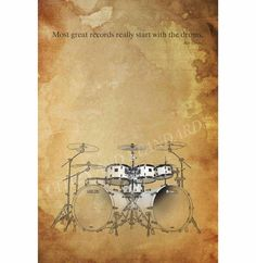 DRUMS QUOTE musician quotes Billy Corgan by CitiesAndStandards, $38.00