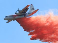 Coulson C-130H-Q Tanker 131 (N130FF), at the June Lake Fire Sept 16 2014