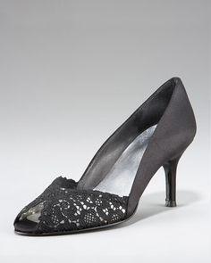 Chantilly Lace Peep-Toe Pump by Stuart Weitzman at Neiman Marcus.