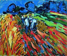 """Potato Pickers Maurice de Vlaminck. Maurice de Vlaminck (París, 4 de abril de 1876 - Eure-et-Loir, 11 de octubre de 1958) fue un pintor fauvista francés. Vlaminck fue uno de los pintores que causaron escándalo en el Salón de otoño de 1905, que recibió el apelativo de """"jaula de fieras"""", dando nombre al movimiento del que formaba parte junto a Henri Matisse, André Derain, Raoul Dufy y otros."""