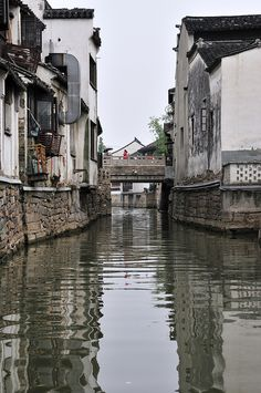 Houses by the river, Suzhou Places To Travel, Places To See, Places Around The World, Around The Worlds, China Architecture, Chinese Garden, Suzhou, China Travel, Travel Images