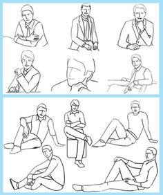 Men's poses                                                                                                                                                                                 More