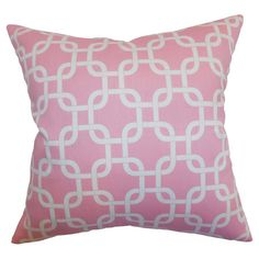 I pinned this Addison Pillow in Baby Pink from the Preppy Pops event at Joss and Main!