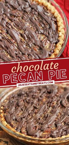 Get ready to be the star of your Thanksgiving feast! Chocolate Pecan Pie is so easy to pull off. With just 8 ingredients, you can make a traditional, classic dessert loaded with an ooey-gooey filling smothered with pecans and drizzled with chocolate. Pin this for later! Desserts For A Crowd, Classic Desserts, Just Desserts, Dessert Recipes, Thanksgiving Desserts Easy, Easy Holiday Recipes, Thanksgiving Feast, Pecans, Food Lists