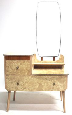Vintage Small Formica Dressing Table With Mirror Retro 20th Century  Furniture