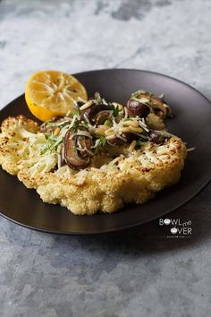 Cauliflower Steak for #MeatlessMonday :http://bowl-me-over.com/cauliflower-steak-for-meatlessmonday/