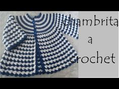 Baby Boy Knitting Patterns, Crochet Motif Patterns, Baby Sweater Patterns, Baby Cardigan Knitting Pattern, Crochet Designs, Diy Crochet Cardigan, Knit Crochet, Knit Baby Dress, Crochet Videos