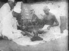 For five years Gandhi retired from active politics and his passion became the Charkha or spinning wheel. He adopted the spinning wheel as a symbol because he. Gandhi, Video Footage, Spinning, India, Knitting, School, Youtube, Kids, Hand Spinning