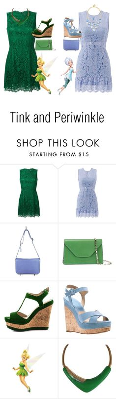 """Tink and Peri"" by ilvermornyserpent ❤ liked on Polyvore featuring Dolce&Gabbana, Karina Grimaldi, Coach, Valextra, Michael Kors, Fathead, Disney, Monet and BaubleBar"