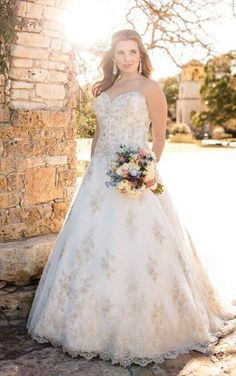 92e8de13f2cf Check out this figure-flattering plus size A-Line wedding dress made from  elegant embroidered Lace and whisper soft Tulle featuring dramatic Diamante  ...