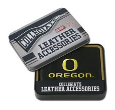 Oregon Ducks Embroidered Billfold by Rico. $24.99. Genuine cowhide black leather. ID window and credit card pockets. Genuine leather billfold embroidered with team logo. Team logo embroidered with quality stitching. NCAA Oregon Ducks Embroidered Billfold. Save 24% Off!