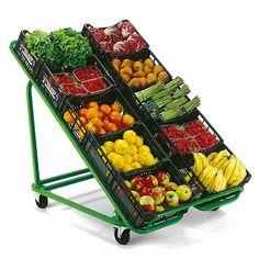 Présentoir mobile Fruits et Légumes Présentoir pour fruits et légumes mobile et pliable