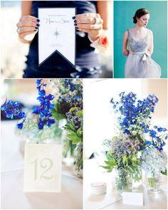Blue wedding palette- Perfect for a spring wedding! <3 www.lulus-bridal.com #weddings2014 #weddingtrends #springwedding