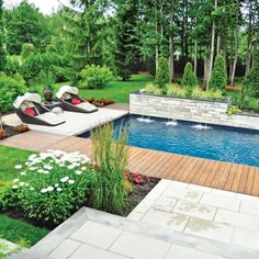 Having a pool sounds awesome especially if you are working with the best backyard pool landscaping ideas there is. How you design a proper backyard with a pool matters. Small Backyard Design, Small Backyard Pools, Backyard Pool Landscaping, Swimming Pools Backyard, Garden Pool, Small Pools, Landscaping Ideas, Pool Paving, Moderne Pools