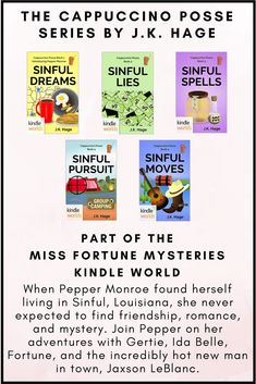 Click Through To Learn More About The Cappuccino Posse Cozymystery Series By JK Hage
