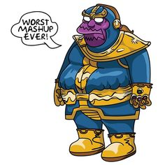 The Mad Lonely Titan.  #comicbookguy #jeffalbertson #thanos #themadtitan #madtitan #infinitygauntlet #infinitywar #infinitystones #theandroidsdungeon #simpsons by peabe