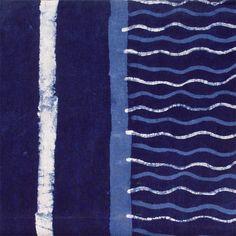 Indigo Shibori Stripe Throw - Sally Campbell