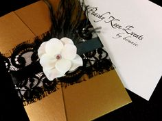 hollywood invitation | Old Hollywood Lace Wedding Invitation by peachykeenevents on Etsy