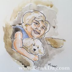 """#BettyADay 139/365 """"Buffalo Betty: It Rubs The Lotion On The Skin"""" from my Betty White art project"""