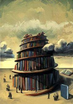 Библиотека: Торре-де-Бабель (ilustración де Фернандо Висенте)