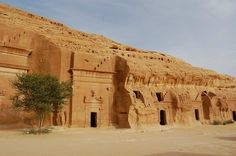 Mada'in Saleh is an ancient city of pre-Islamic period located in northern Saudi Arabia, about 1,400 km to the north of capital Riyadh.