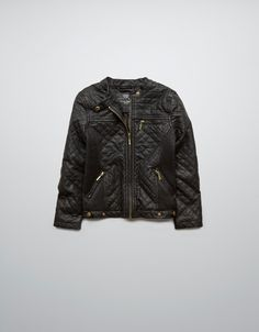 QUILTED SYNTHETIC LEATHER JACKET - Coats - Girl (2-14 years) - Kids - ZARA United States