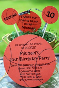 Custom Personalized Basketball Party  by palmbeachpolkadots, $1.75