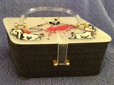 Vintage 50's Jerri's Originals Lucite Purse