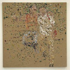 Nicolaj Dudek, Public friends, Heftklammern, Holz, Papier, 165 x 135 cm, 2005