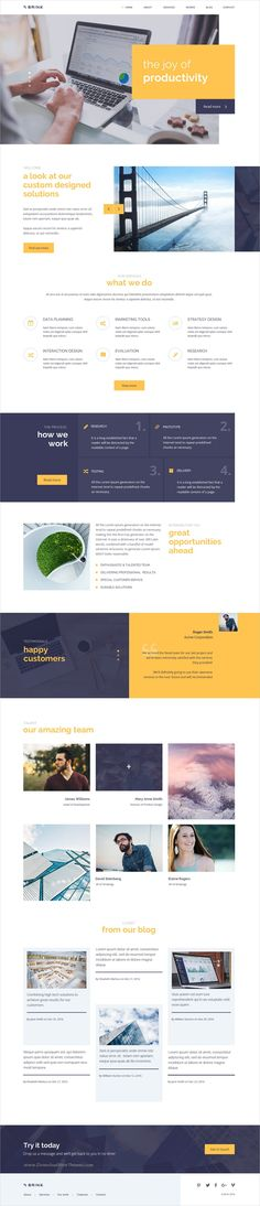 Brink is a creative and fresh business #PSD template for #corporate or #marketing and finance websites with 4 homepage variations and 18+ organized PSD files download now➩ https://themeforest.net/item/brink-creative-business-psd-template/19343455?ref=Datasata