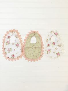 Floral Baby Bibs from Ten Point. Shabby chic baby bib. http://shoptenpoint.com/products/floral-baby-bibs?variant=7250032577