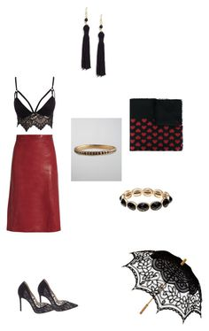"""Untitled #351"" by paty8797 ❤ liked on Polyvore featuring Gucci, Vanessa Bruno, Club L, Remedios, Gianvito Rossi, Kenneth Jay Lane, Monet and Jamie Wolf"