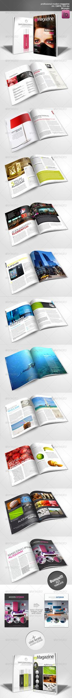 Modern Magazine 24 pages - Magazines Print Templates