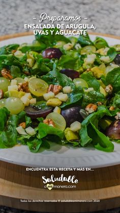 Healthy Salad Recipes, Clean Recipes, Lunch Recipes, Easy Dinner Recipes, Healthy Snacks, Easy Meals, Healthy Eating, Cooking Recipes, Salad Ingredients